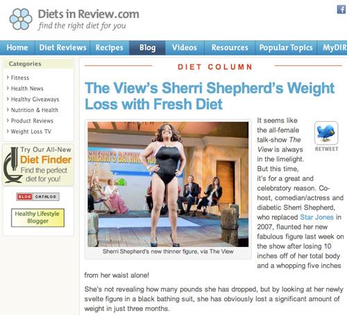 Sherri Shepherd People Magazine The Fresh Diet Blog
